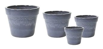 Pot Glazed Basic Antique Grey D27 H 20 émail (Mg)