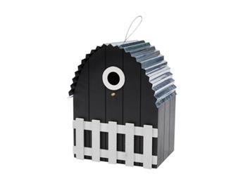 Nichoir toit courbe maison noire
