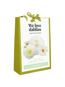 Dahlia White Love MIX * 5 Pc / shopping bag