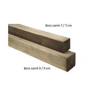 Poteau bois carre 9 9 360 cm