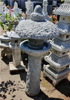 Abreuvoir Mangeoire oiseaux granit gris Ht 75 cm