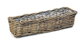 Laura Rect Basket Osier Natural L60 W16 H15 (Mg)