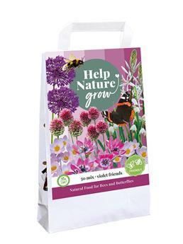 Bulbes mix Help nature Abeilles et papillons Violet * 50 pc