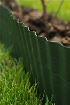 Bordure à gazon PVC vert - H15 cm x 9 m