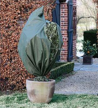 Housse hiver vert Ht 250 x diam 200 cm 70 gr/M²