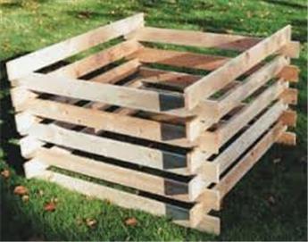 Silo à compost en bois autoclave - Pin du Nord FSC en kit à monter PROMOTION: - 20€ déjà déduit.