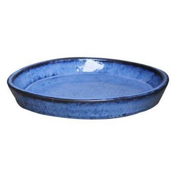 Soucoupe  D36 Cm H 5Cm Blue Émaillé